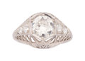Estate Jewelry:Rings, Diamond, Platinum Ring . ...