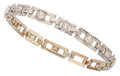Estate Jewelry:Bracelets, Retro Diamond, White Gold Bracelet. ...