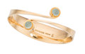 Estate Jewelry:Bracelets, Aquamarine, Gold Bracelet, Bent Gabrielsen, Sweden. ...