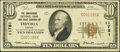National Bank Notes:Kansas, Emporia, KS - $10 1929 Ty. 1 The Commercial NB & TC Ch. # 11781. ...