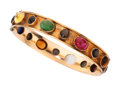Estate Jewelry:Bracelets, Multi-Stone, Gold Bangle. ...