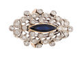 Estate Jewelry:Rings, Edwardian Diamond, Sapphire, Platinum-Topped Gold Ring. ...