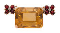 Estate Jewelry:Brooches - Pins, Citrine, Garnet, Diamond, Gold Brooch. ...