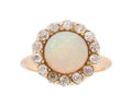 Estate Jewelry:Rings, Antique Opal, Diamond, Gold Ring. ...