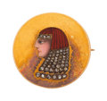 Estate Jewelry:Brooches - Pins, Antique Egyptian Revival Diamond, Enamel, Gold Brooch. ...