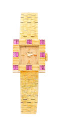 Estate Jewelry:Watches, Gübelin Lady's Ruby, Gold Watch. ...