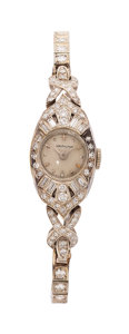 Estate Jewelry:Watches, Hamilton Lady's Diamond, White Gold, Watch. ...