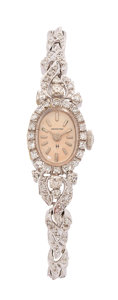 Estate Jewelry:Watches, Hamilton Lady's Diamond, White Gold Watch. ...