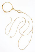 Estate Jewelry:Other, Gold Lorgnette and Chain. ...