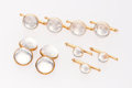 Estate Jewelry:Suites, Gentleman's Colorless Quartz, Gold Dress Set, Larter & Sons .... (Total: 9 Items)