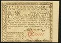 Colonial Notes, Rhode Island July 2, 1780 $1 New....
