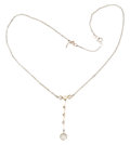Estate Jewelry:Necklaces, Edwardian Diamond, Pearl, White Gold, Platinum-Topped GoldNecklace. ...