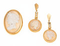 Estate Jewelry:Lots, Hardstone Cameo, Freshwater Pearl, Gold Jewelry. ...
