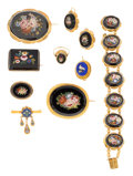 Estate Jewelry:Lots, Victorian Micromosaic, Gold Jewelry. ...