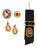 Estate Jewelry:Lots, Hardstone Cameo, Half-Pearl, Gold Jewelry. ...