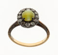 Estate Jewelry:Rings, Cat's-Eye Chrysoberyl, Diamond, Silver-Topped Gold Ring. ...