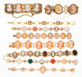 Estate Jewelry:Bracelets, Multi-Stone, Shell Cameo, Gold Bracelets. ... (Total: 9 Items)