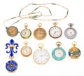 Estate Jewelry:Watches, Swiss Lady's Diamond, Seed Pearl, Enamel, Gold, Silver Watches. . ...