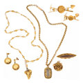 Estate Jewelry:Lots, Hair, Bone, Gold Nugget, Gold Jewelry. ...