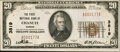 National Bank Notes:Kansas, Chanute, KS - $20 1929 Ty. 1 The First NB Ch. # 3819. ...