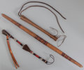 American Indian Art:Pipes, Tools, and Weapons, Three Plains Implements... (Total: 3 Items)