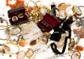 Estate Jewelry:Lots, Diamond, Multi-Stone, Cultured Pearl, Synthetic Stone, Enamel, Gold, Base Metal Jewelry 3lbs. ...
