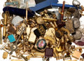 Estate Jewelry:Lots, Multi-Stone, Gold, Silver, Base Metal Objects 9lbs. ...