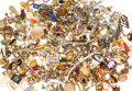 Estate Jewelry:Lots, Diamond, Multi-Stone, Synthetic Stone, Cultured Pearl, Enamel,Platinum, Gold, Yellow Metal Jewelry Components 1lb . ...