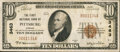 National Bank Notes:Kansas, Pittsburg, KS - $10 1929 Ty. 1 The First NB Ch. # 3463. ...