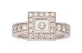 Estate Jewelry:Rings, Diamond, White Gold Ring, Chopard. ...