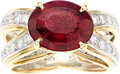 Estate Jewelry:Rings, Rubellite Tourmaline, Diamond, Gold Ring, Carvin French. ...