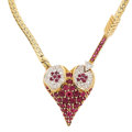 Estate Jewelry:Necklaces, Ruby, Diamond, Gold Necklace, Erté. ...