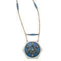 Estate Jewelry:Necklaces, Diamond, Enamel, Gold, Silver Locket-Necklace. ...