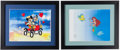 Miscellaneous Collectibles:General, Little Mermaid and Mickey/Minnie Mouse Serigraph Cels (2)....