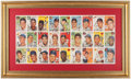 Baseball Collectibles:Others, 1954 Sports Illustrated Card Sheet Display....