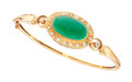 Estate Jewelry:Bracelets, Chalcedony, Diamond, Gold Bracelet. ...