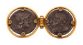 Estate Jewelry:Brooches - Pins, Archeological Revival Silver Coin, Gold Brooch, Castellani. ...