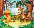 Animation Art:Production Cel, Winnie the Pooh and Tigger - Educational Film Production Cel andKey Master Background Setup (Walt Disney, c. 1980...