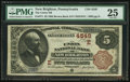 National Bank Notes, New Brighton, PA - $5 1882 Brown Back Fr. 471 The Union NB Ch. # (E)4549. ...