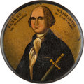 Political:3D & Other Display (pre-1896), George Washington: Hand-colored Portrait Snuff Box....