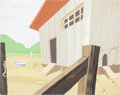 Animation Art:Painted cel background, Foghorn Leghorn Cartoon Painted Production Background (WarnerBrothers, c. 1950s)....