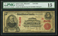 National Bank Notes, Saint Louis, MO - $5 1902 Red Seal Fr. 589 The Central NB Ch. #(M)8455. ...