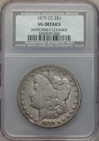 1879-CC $1 -- Improperly Cleaned -- NCS. VG Details. NGC Census: (110/2315). PCGS Population: (149/4534). CDN: $140 Whsl...