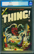 Golden Age (1938-1955):Horror, The Thing! #17 (Charlton, 1954) CGC VF+ 8.5 Cream to off-white pages.