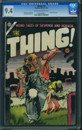 Golden Age (1938-1955):Horror, The Thing! #16 (Charlton, 1954) CGC NM 9.4 Cream to off-white pages.