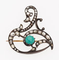 Estate Jewelry:Bracelets, Antique Turquoise, Diamond, Silver-Topped Gold Brooch. ...