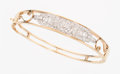 Estate Jewelry:Bracelets, Diamond, Platinum, Gold Bangle. ...