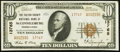 National Bank Notes, McConnellsburg, PA - $10 1929 Ty. 2 Fr. 1801-2 The Fulton County NB Ch. # 13765. ...