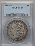 Morgan Dollars: , 1882-CC $1 VF20 PCGS. PCGS Population: (41/31864). NGC Census: (19/16453). CDN: $85 Whsle. Bid for problem-free NGC/PCGS VF...