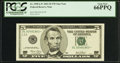 Fr. 1990-L* $5 2003 Federal Reserve Star Note. PCGS Gem New 66PPQ